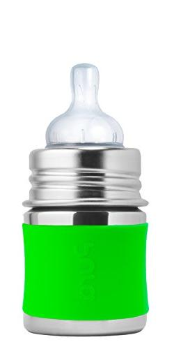 PURA Kiki Stainless Steel Baby Infant Bottle w/ Slow Nipple