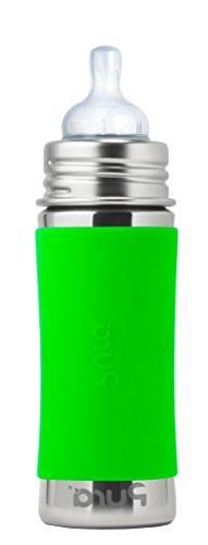 Pura Kiki 11 Oz Stainless Steel Baby Infant Bottle Green Sle