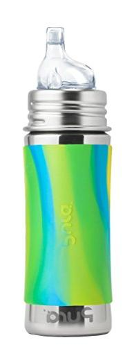 Pura Kiki 11 Oz / 325 Ml Stainless Steel Sippy Cup With Sili