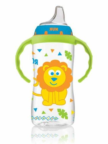 large learner sippy cup green tractor designs