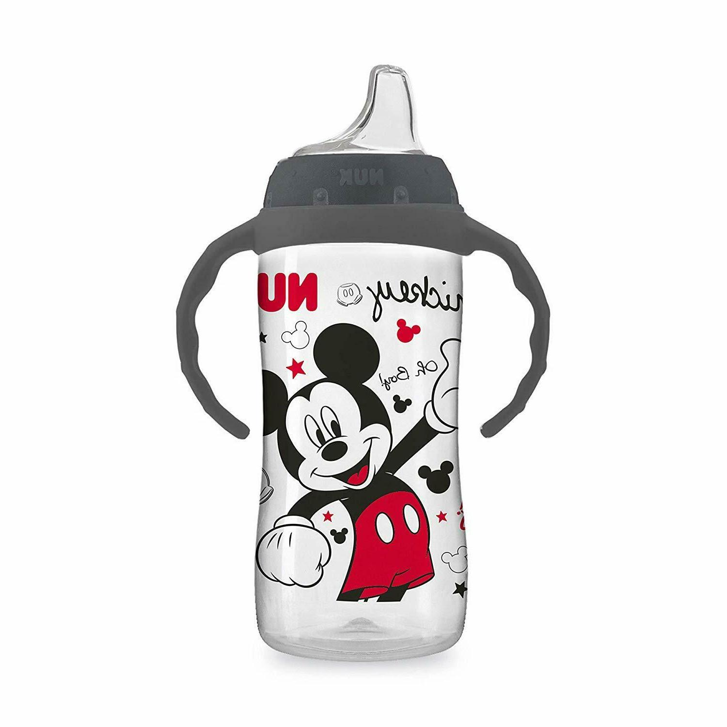 Disney Large Sippy Cup Mickey oz. Spill Proof Removable Handles