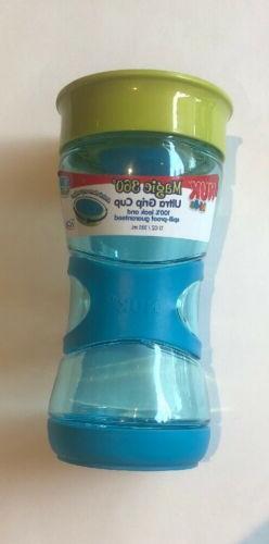 NUK Magic 360 Sippy Ultra Grip Cup, Blue, 13oz 1pk 100% Leak