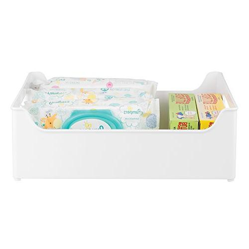 "mDesign Organizer Containers with for Kitchen Countertop, Cabinet, Pantry, Refrigerator - BPA Free Kids Snacks/Food 10"" -"