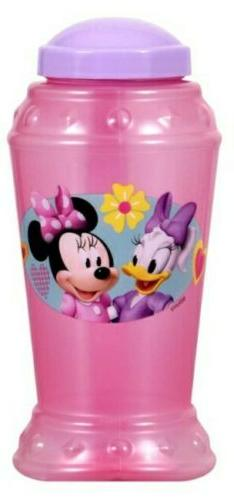 MINNIE MOUSE Plastic Sippy Mug, Cup with Straw, Pink, childr
