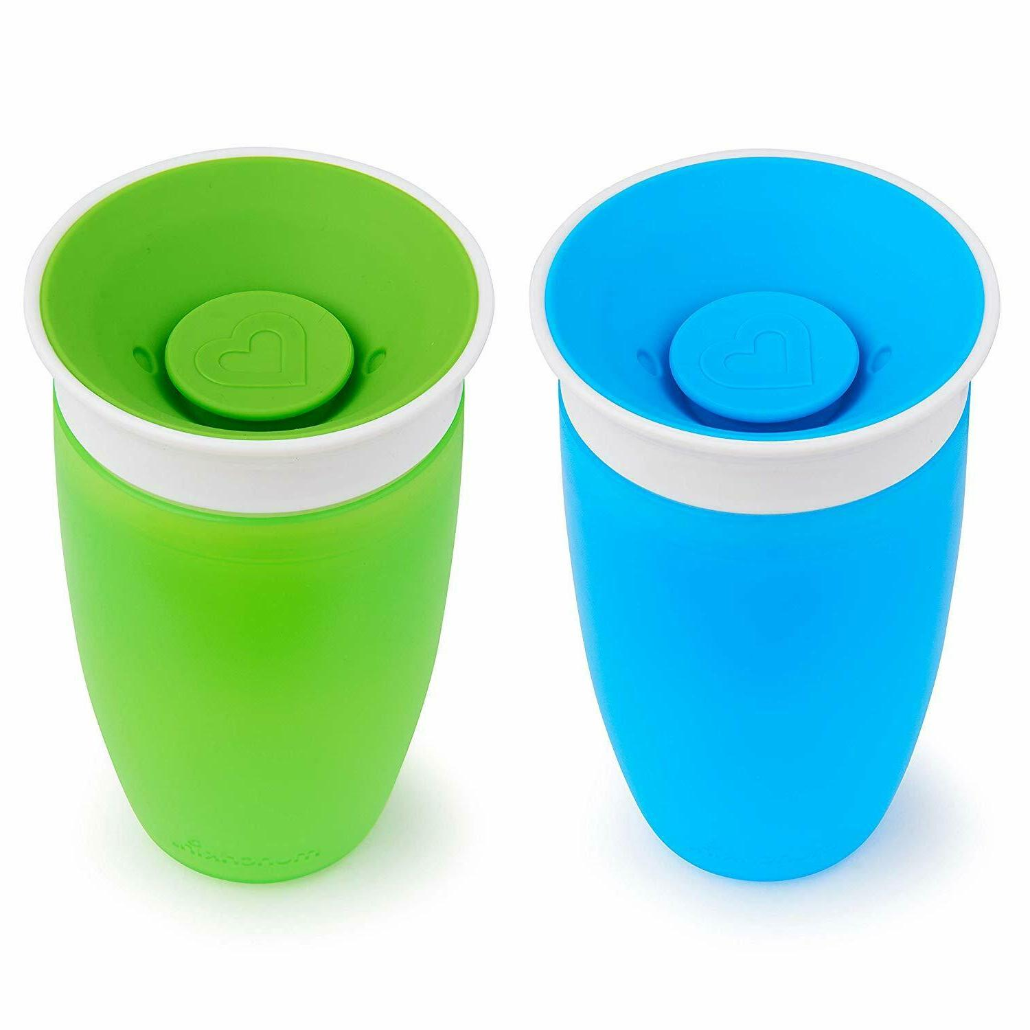 Baby Sippy Cups Toddler Kids Children 2 Count 10 ounce Blue