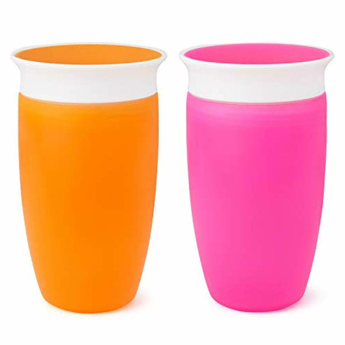 miracle 360 sippy cup pink orange 10