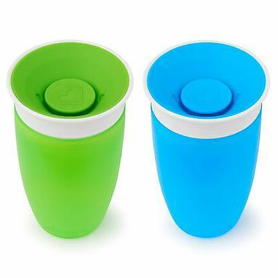 Munchkin Miracle Sippy Cup, Green/Blue, 2