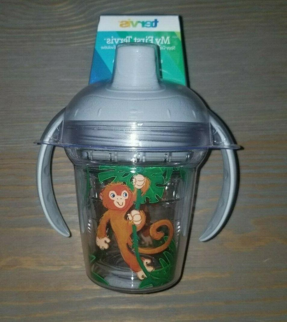 my first sippy cup monkey design