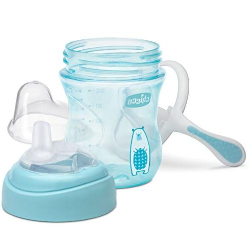 Chicco NaturalFit Spout Transition Sippy Blue, 7 Ounce