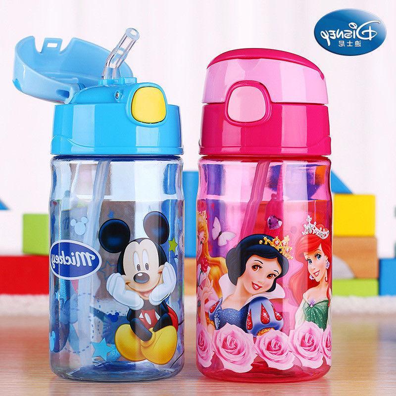 NEW Baby Kids Children Disney School Drinking Straw Bottle Straw Cup