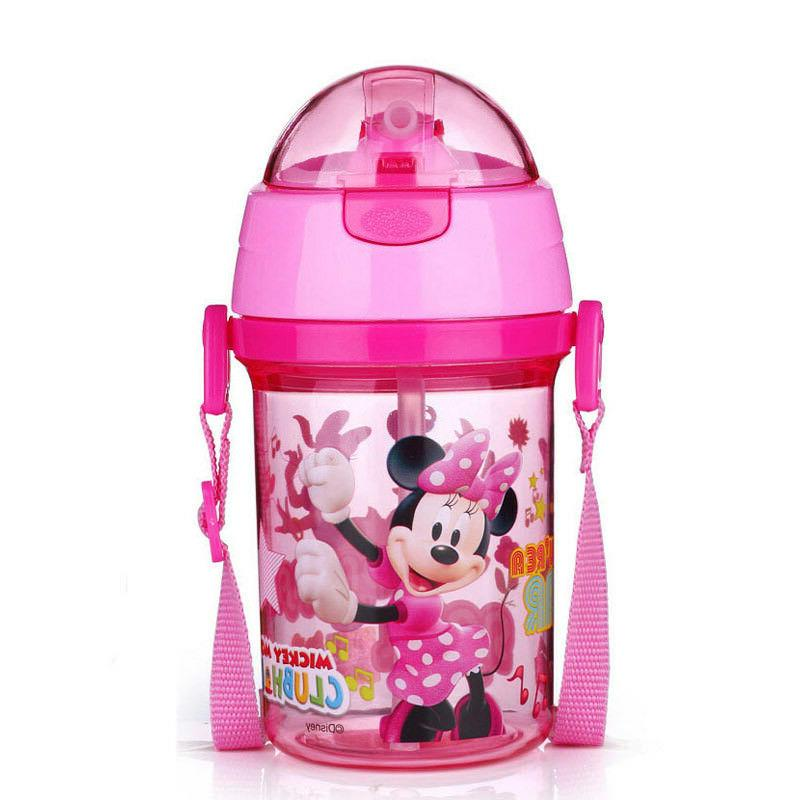 NEW Kids Disney School Drinking Straw Bottle Straw Cup