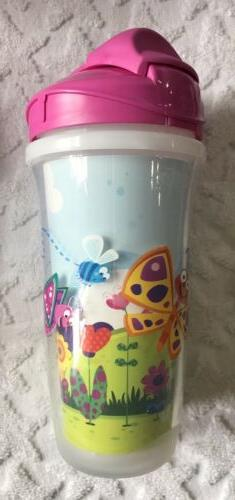 NEW 3 Cups Girls 9 2pk Butterflies