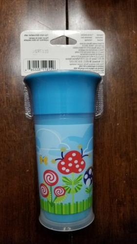 Sassy No Spill 9oz Flowers Nature BPA Free Sippy Cup-NEW 360 Insulated