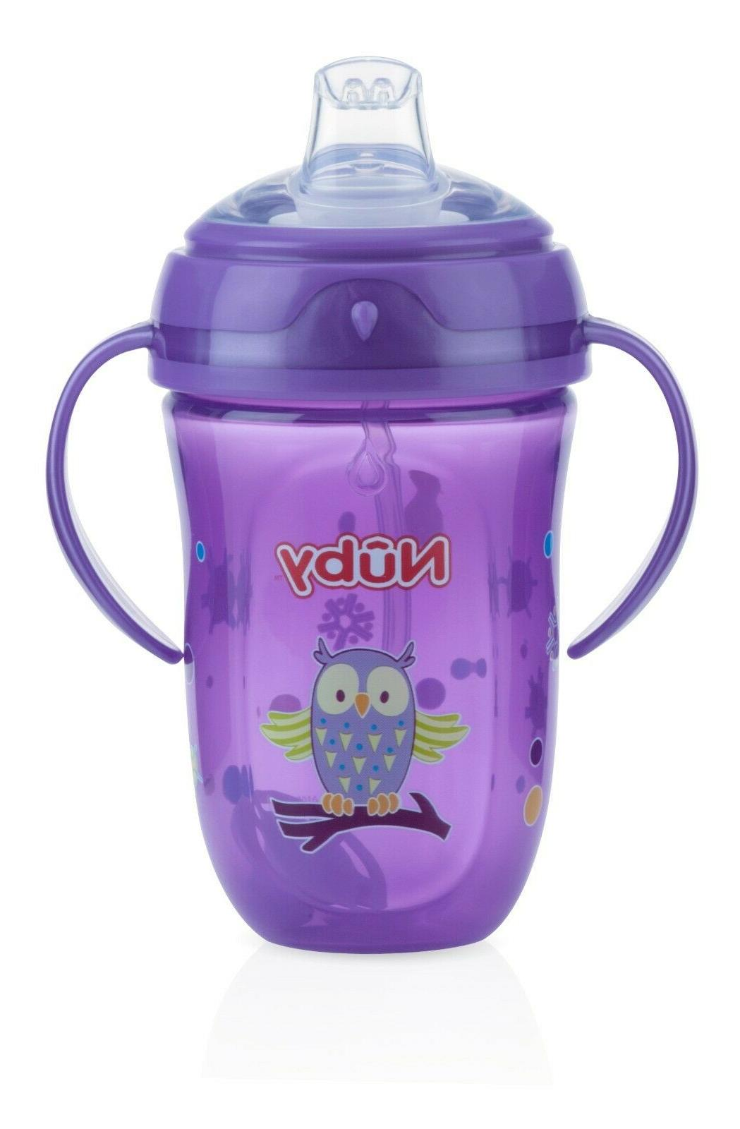 Nuby Comfort 360 Girl Sippy - 4 - Pink or Purple