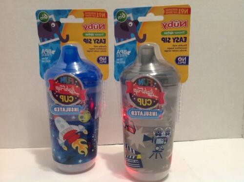 Nuby Sipeez Easy Sip Sippy Cup Insulated 6+M New