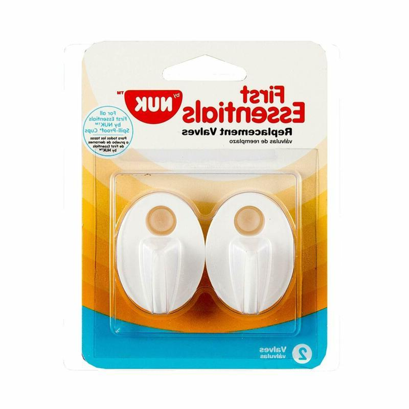 Nuk 2 Pack Replacement Valves Spill Proof Cup, Colors May Va