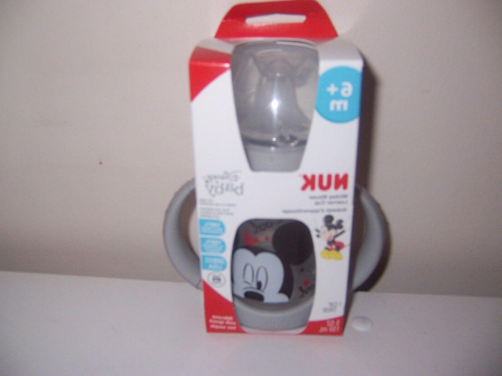 nuk disney baby mickey grey sippy cup