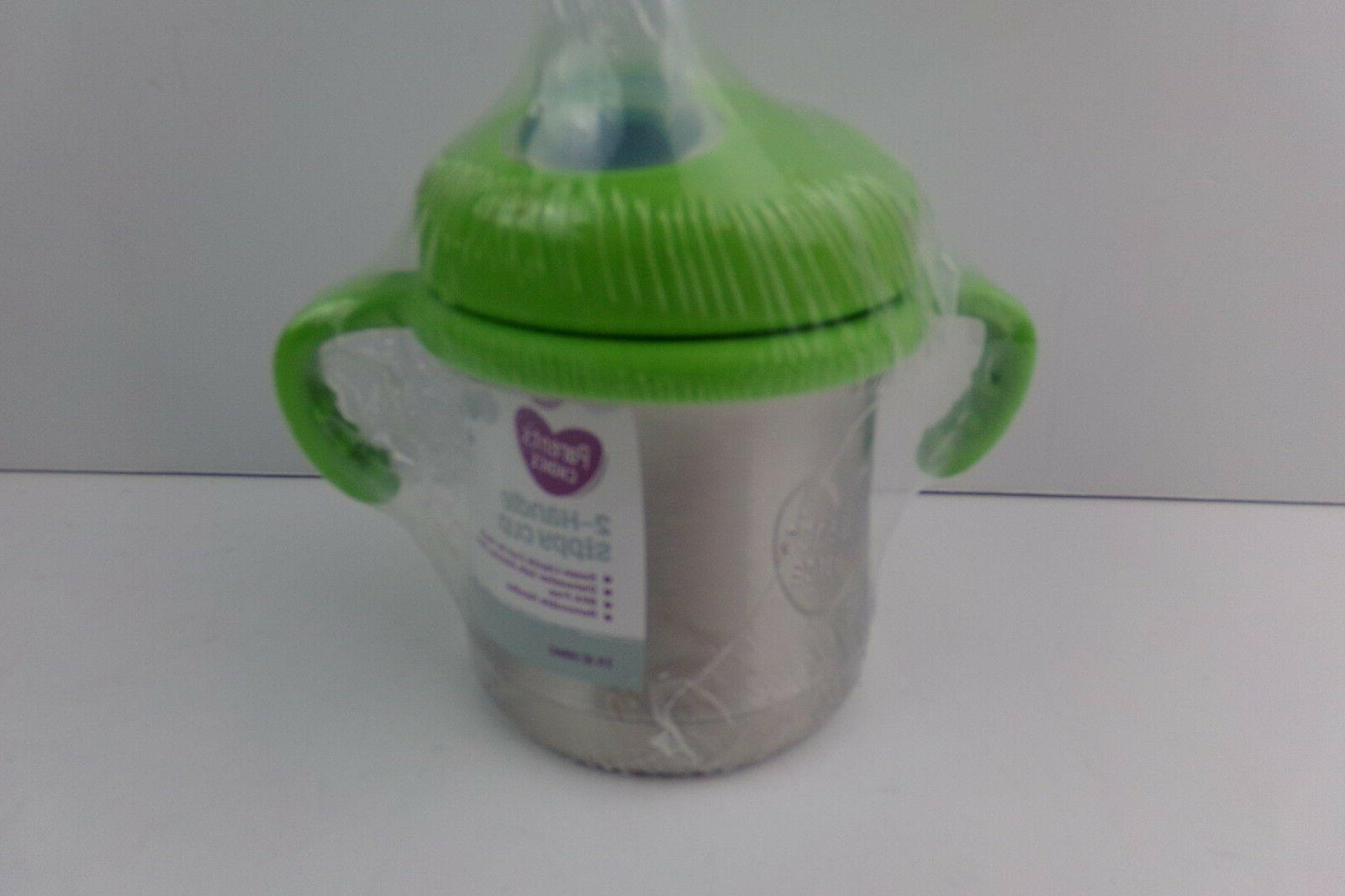 parents choice 2 handle sippy cup stainless