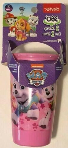 Paw Patrol Playtex 360 Spoutless Sippy Cup 2 Piece Cup 10 Oz