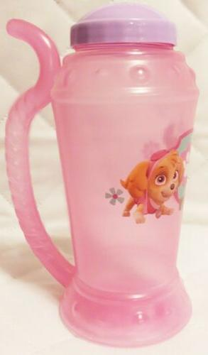 PAW Clear Sippy Cup Straw, Pink, girls