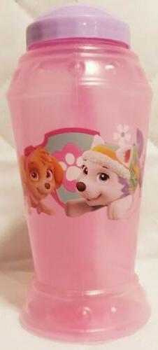 PAW PATROL Clear Plastic Sippy Mug, Cup with Straw, Pink, ch