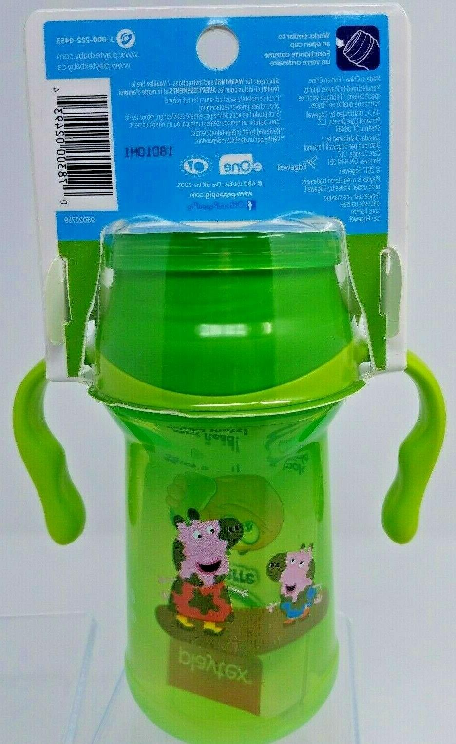 Playtex Peppa Pig Sippy 10oz Drink Spoutless Cup