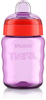 Philips Sippy Cup, 9 Pink/Purple, Stage 2