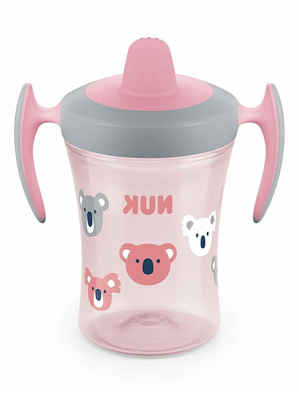 pink sippy cup 8oz soft spout leak