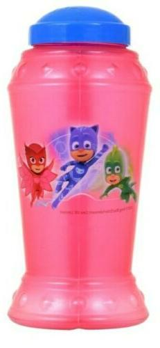 Pj Masks Clear Plastic Sippy Mug, Cup with Straw, red, child