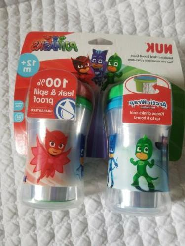 pj masks sippy cup spill proof insulated