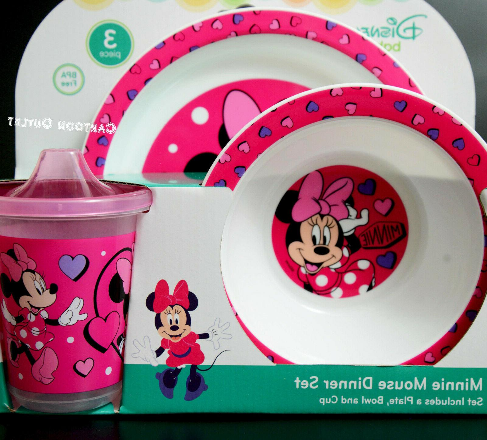 Disney Plate Learner 3 pc Dinner Minnie Mouse
