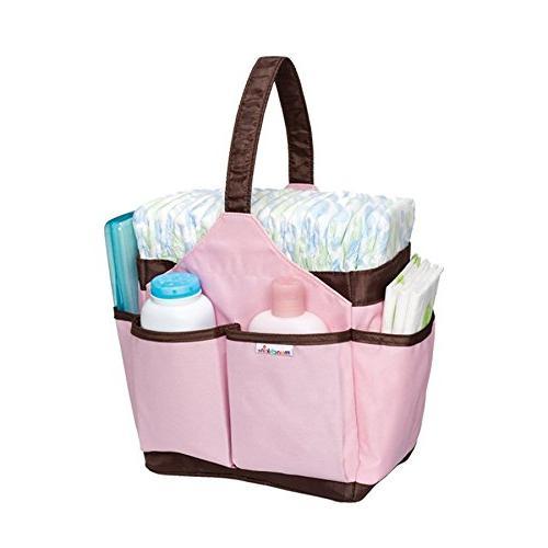 Pink Munchkin Portable Diaper Caddy