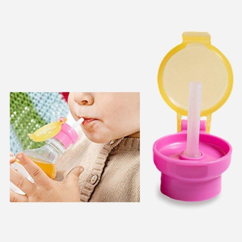 Portable <font><b>Spill</b></font> Proof Drink Bottle Twist Cap Straw Safe Straw <font><b>Cup</b></font> for Feeding