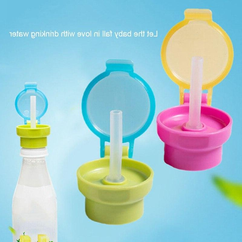 Portable <font><b>Spill</b></font> Drink Twist Cap Straw Safe Drink Feeding