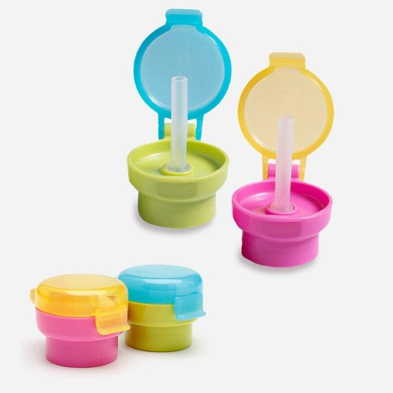Portable Drink Bottle Cap Drinking Straw Safe <font><b>Cup</b></font> for Kid Feeding