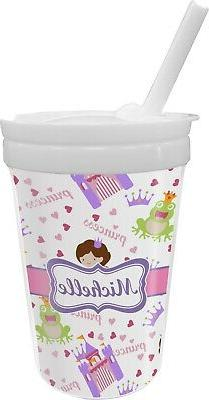 Princess Print Sippy Cup with Straw
