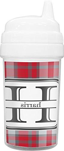 Red & Gray Plaid Toddler Sippy Cup