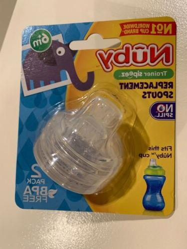 NUBY Replacement Spouts Sippy Gripper  Fit 10oz Nuby Sippy G