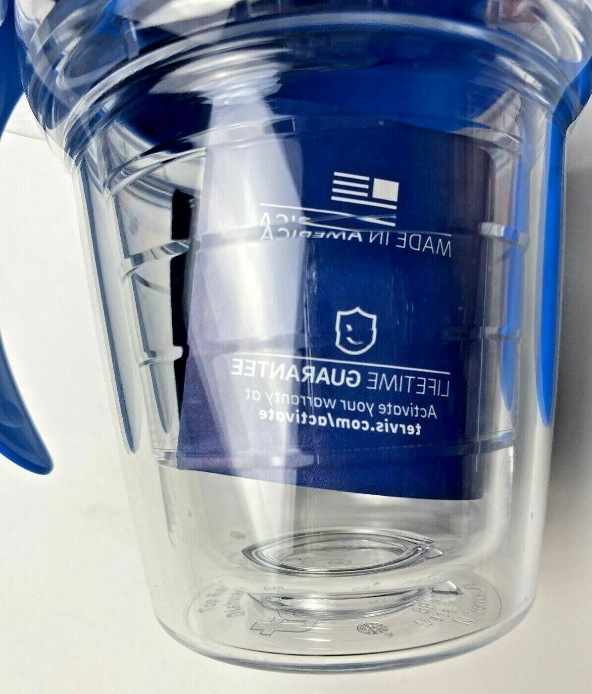 Tervis Cup Blue Lid Insulated BPA Free