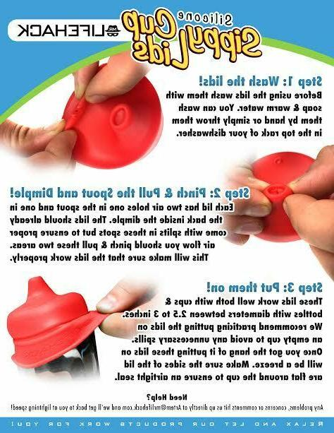 Sippy Cup MrLifeHack 4pk Cup Spill BPA Free
