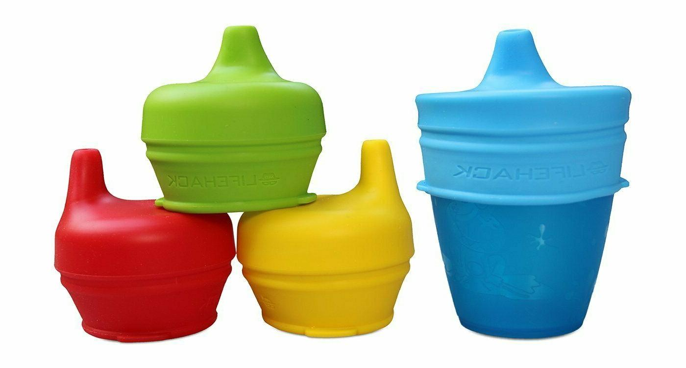 Sippy Cup Silicone MrLifeHack 4pk Make Any Cup BPA
