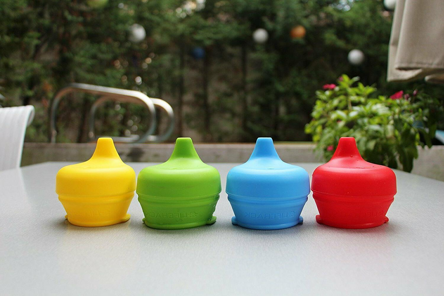 Sippy Cup Lids MrLifeHack 4pk Any Cup Bottle Spill Proof BPA Free