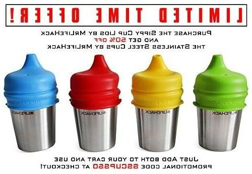 Sippy Cup Lids Spill and Leak Proof 4 Pack Perfect for Toddl
