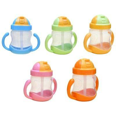 Sippy Cups Baby Kid Straw Bottles