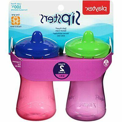 Playtex Sipsters Stage 2 Spill-Proof, Leak-Proof, Sippy Cups