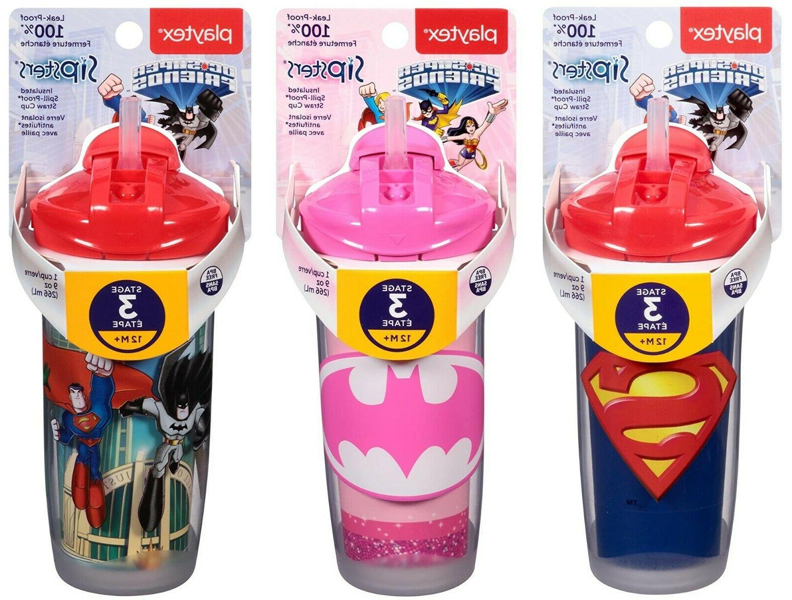Playtex Sipsters Super Insulated Straw Cup, 9 or