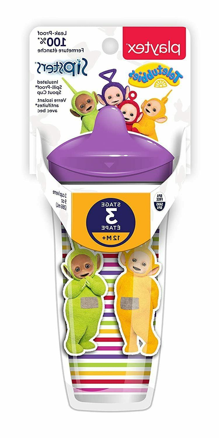 Playtex Sipsters Stage 3 Teletubbies Spill-Proof, Leak-Proof