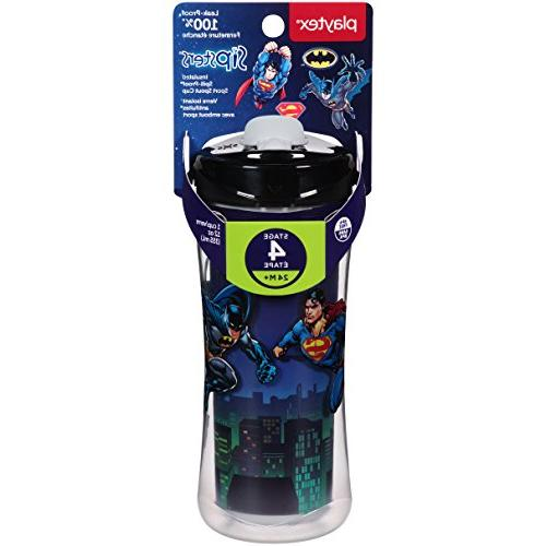 Playtex Super Friends Spill-Proof, Break-Proof Insulated Sport Sippy Ounce 1