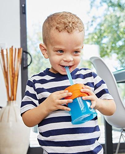 Boon Silicone Straws, Blue