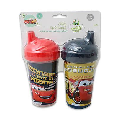 2pk Spill Proof DISNEY PIXAR CARS Sippy Cups Toddler Kids Bo